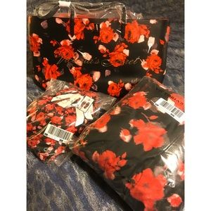 *BUNDLE* VS Floral Tote/Blanket/Slippers